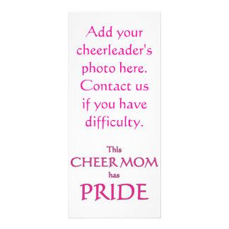 Cheer mom has pride! Proud cheer mom Rack Card