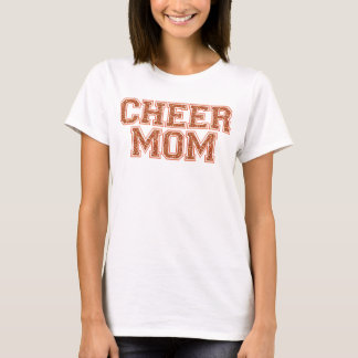Cheer Mom Orange Glitter T-Shirt