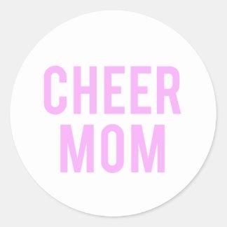 Cheer Mom Print Classic Round Sticker