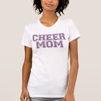 Cheer Mom Purple Glitter T-Shirt
