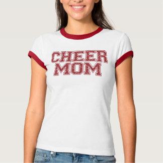 Cheer Mom Red Glitter T-Shirt