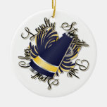 Cheer Navy and Yellow Customizable Ornament