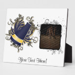 Cheer Navy and Yellow Qualities Plaque