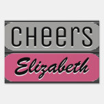 Hand shaped Cheer On Shout Out Sign