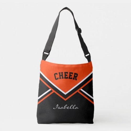 Cheer Orange Cheerleader Outfit Crossbody Bag