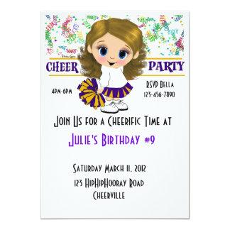 "Cheer Party 5"" X 7"" Invitation Card"