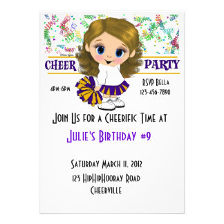 Cheer Party Personalized Invitations