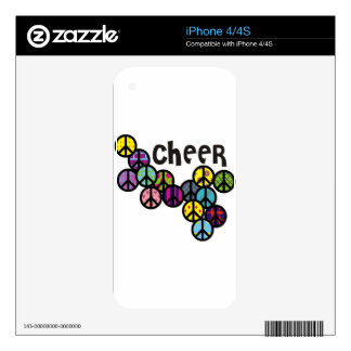 Cheer Peace Signs Filled iPhone 4 Decal