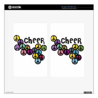 Cheer Peace Signs Filled Kindle Fire Skin