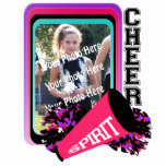 "Cheer Photo Frame Cutout<br><div class=""desc"">Colorful Cheer photo frame,  customizable with your favorite picture,  make it into an ornament,  a keychain,  or a freestanding frame.  Makes a wonderful personalized gift for the birthdays and holidays.</div>"