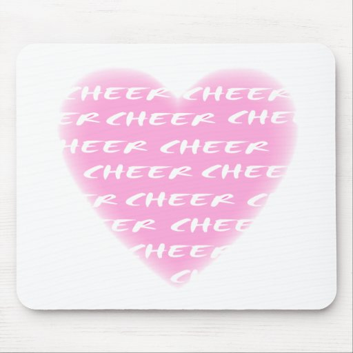Cheer pink mouse pad