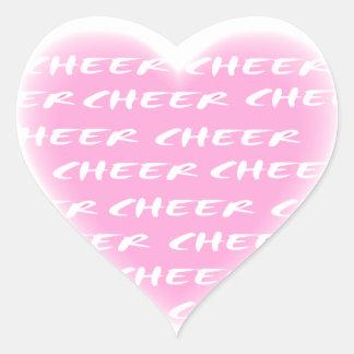 Cheer pink sticker