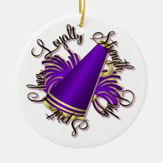 Cheer Purple and Gold Qualities One-Sided Ornament