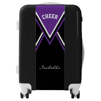 Cheer Purple Cheerleader Outfit Luggage