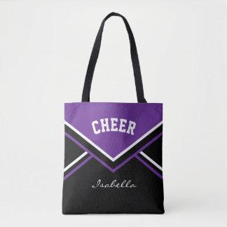 Cheer Purple Cheerleader Outfit Tote Bag