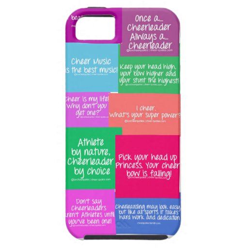 Cheer quote case case for iPhone 5/5S