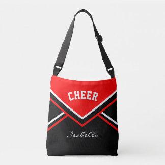 Cheer Red Cheerleader Outfit Crossbody Bag
