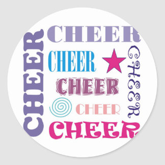 Cheer Repeating Classic Round Sticker