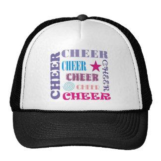 Cheer Repeating Trucker Hats