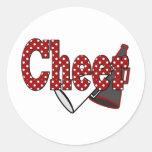 Cheer Round Sticker