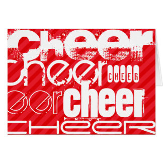 Cheer; Scarlet Red Stripes Card