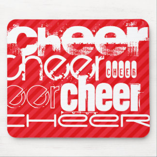Cheer; Scarlet Red Stripes Mouse Pad