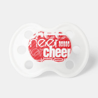 Cheer; Scarlet Red Stripes BooginHead Pacifier