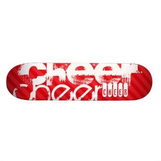Cheer; Scarlet Red Stripes Skateboard Deck