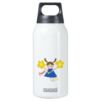 Cheer! 10 Oz Insulated SIGG Thermos Water Bottle