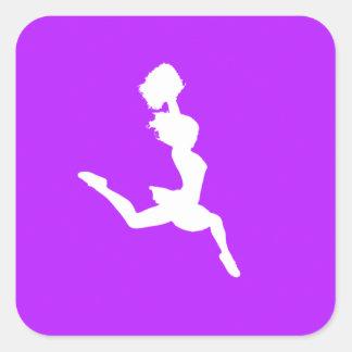 Cheer Silhouette Sticker Purple