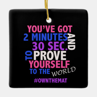 Cheer Slogan #OWNTHEMAT Ornament