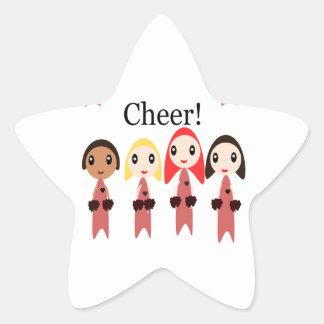 Cheer! Star Sticker