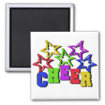 Cheer Stars 2 Inch Square Magnet