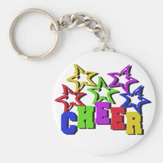 Cheer Stars Basic Round Button Keychain
