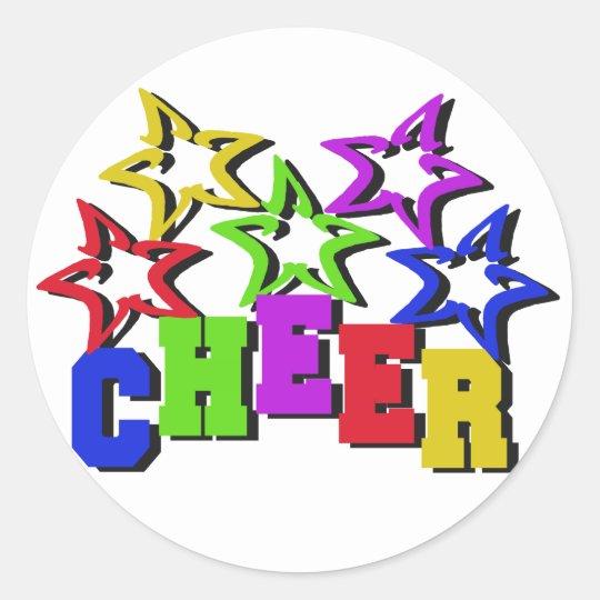 Cheer Stars Classic Round Sticker