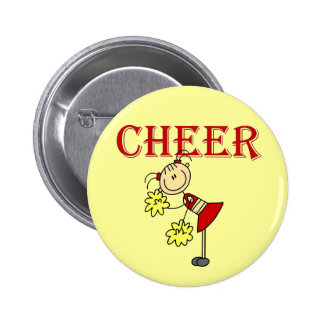 CHEER Stick Figure Cheerleader T-shirts and Gifts Pinback Button
