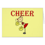 CHEER Stick Figure Cheerleader T-shirts and Gifts Greeting Cards