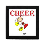 CHEER Stick Figure Cheerleader T-shirts and Gifts Trinket Boxes