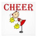 CHEER Stick Figure Cheerleader T-shirts and Gifts Custom Invitation