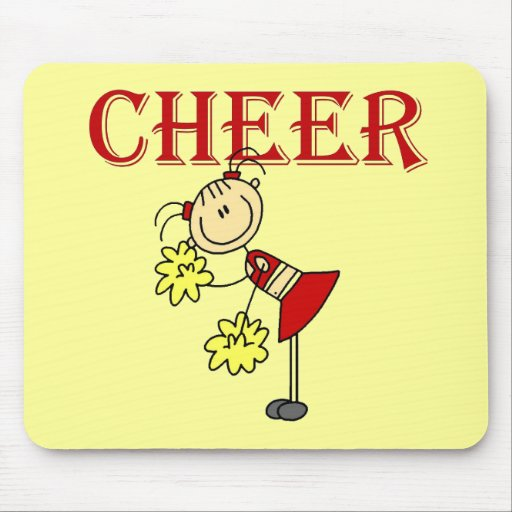 CHEER Stick Figure Cheerleader T-shirts and Gifts Mousepad