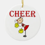 CHEER Stick Figure Cheerleader T-shirts and Gifts Christmas Ornaments