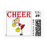 CHEER Stick Figure Cheerleader T-shirts and Gifts Postage