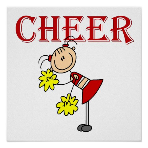 CHEER Stick Figure Cheerleader T-shirts and Gifts Posters