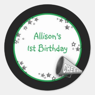 Cheer Sticker or Address Label Green