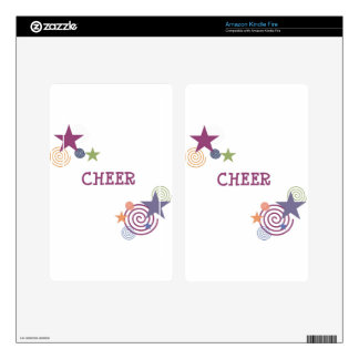 Cheer Swirl Decal For Kindle Fire