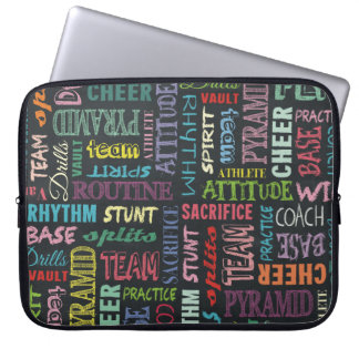 Cheer Terms On The Chalkboard Computer Sleeve