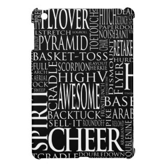 Cheer Terms Word Cloud in Black and White iPad Mini Cover
