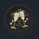 "Cheer to 50 Year Anniversary Paper Plate<br><div class=""desc"">***** 5 Star Review ***** 50th Golden Anniversary paper plates. 100% Customizable. Ready to Fill in the box(es) or Click on the CUSTOMIZE button to add, move, delete, resize or change any of the font or graphics. Made with high resolution vector and/or digital graphics for a professional print. NOTE: (THIS...</div>"