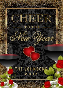 cheer to the new year party invitation