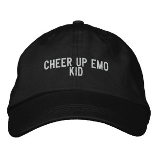 cheer up emo kid embroidered hat